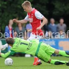 AZ heeft de oefenwedstrijd tegen CSV Apeldoorn op het veld van SV Wissel met 7-1 gewonnen.